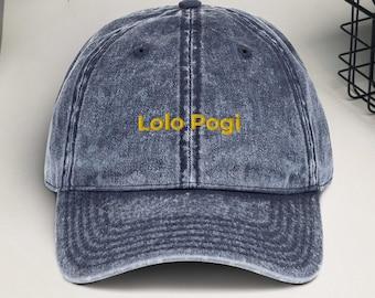 Lolo Pogi - Embroidered Vintage Cotton Twill Cap - Filipino cap / hat