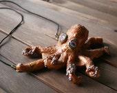 Sculpted Octopus pendant ...