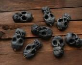 Black skull charm