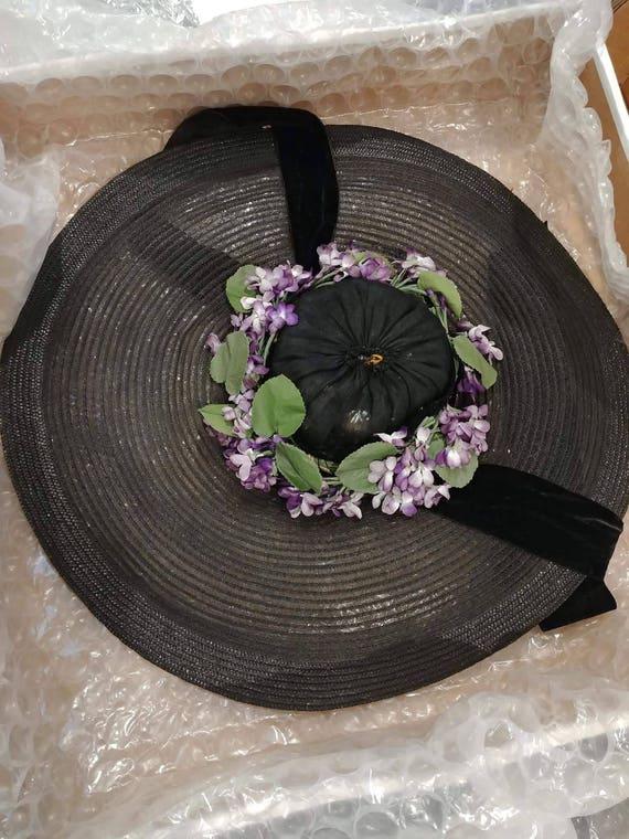 1930s/40s vintage wide brim Sun hat