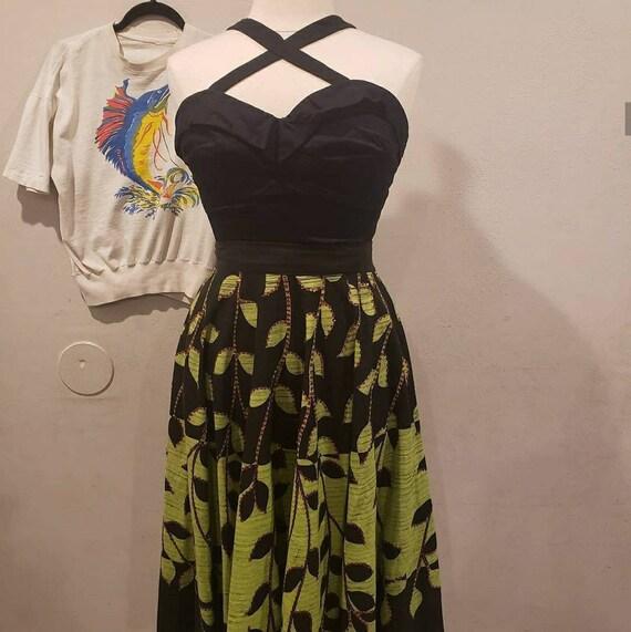 VOLUP Custom made 1950s Black Sun Top