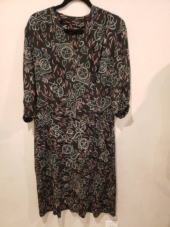 VOLUP 1940s Rayon dress