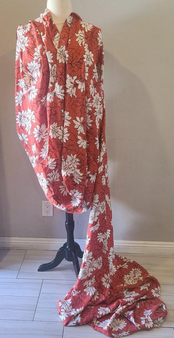 Vintage 1940s Hawaiian fabric