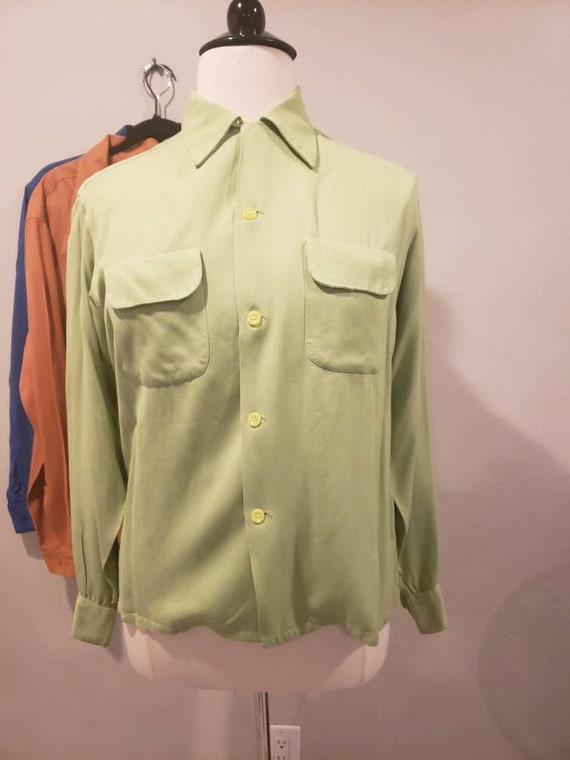 1950s Rayon Penny's Towncraft shirt.  Large.