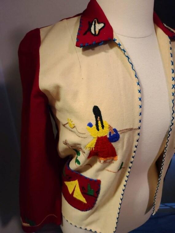 1940s Mexican Souvenir jacket - image 2