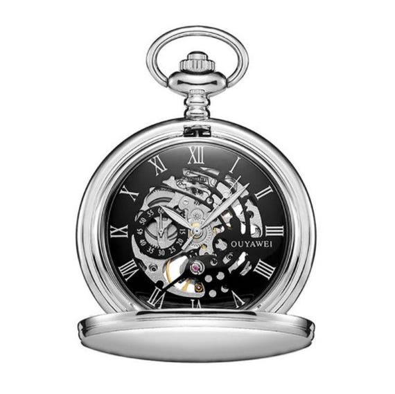 87795c8a95ce5 Personalized Mechanical Luxury Pocket Watch with Roman Numeral