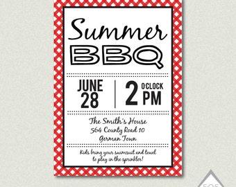 printable summer bbq invitation backyard bbq invitation etsy