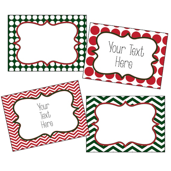 Christmas Labels Editable Christmas Labels Chevron And Etsy