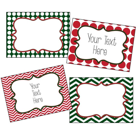 Editable Christmas Labels.Christmas Labels Editable Christmas Labels Chevron And Polkadots Red And Green Editable Pdf Printable Gift Tags Editable Gift Tags