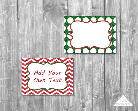 Christmas Labels Editable Christmas Labels Glitter Labels Chevron