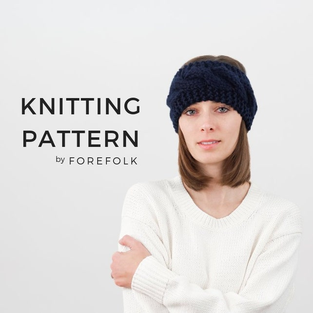 Knitting Pattern Cable Knit Headband Ear Warmer Easy Etsy