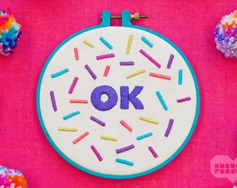 OK - Embroidery Art - 6""