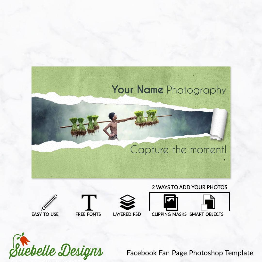2017 Facebook Fan Page Cover Photoshop Social Media Marketing Etsy