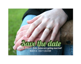 Save The Date Photoshop Template 005