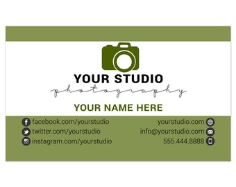 Referral Business Card Size Photoshop Template 003 for Professional Photographers