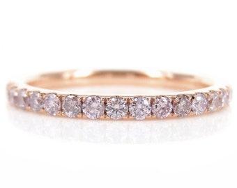 Natural Light Pink Diamond Eternity Band - 1.9mm - Wedding Band