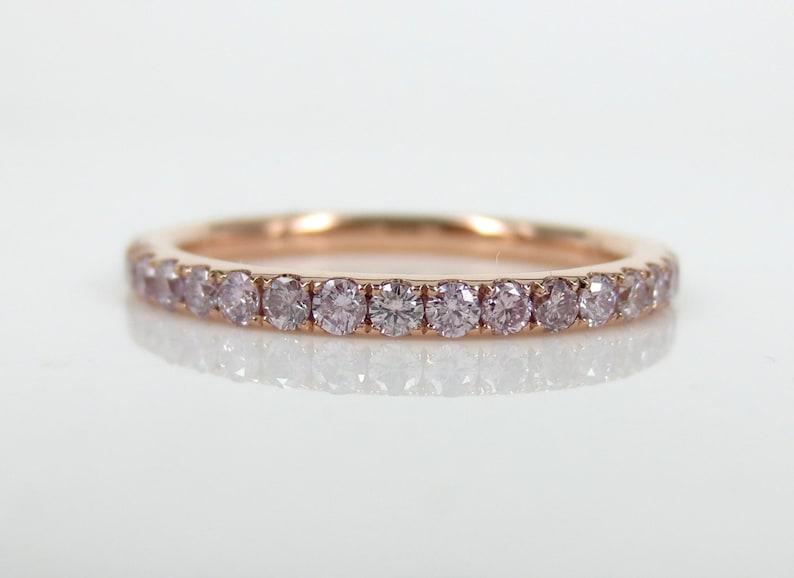4edc35b79 0.71cts Natural Pink Diamond Pave Eternity Band. | Etsy