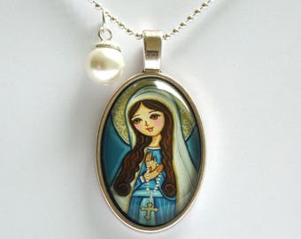 Virgin Mary necklace First communion gift Catholic jewelry Virgin Mary jewelry First communion necklace for girl First communion jewelry