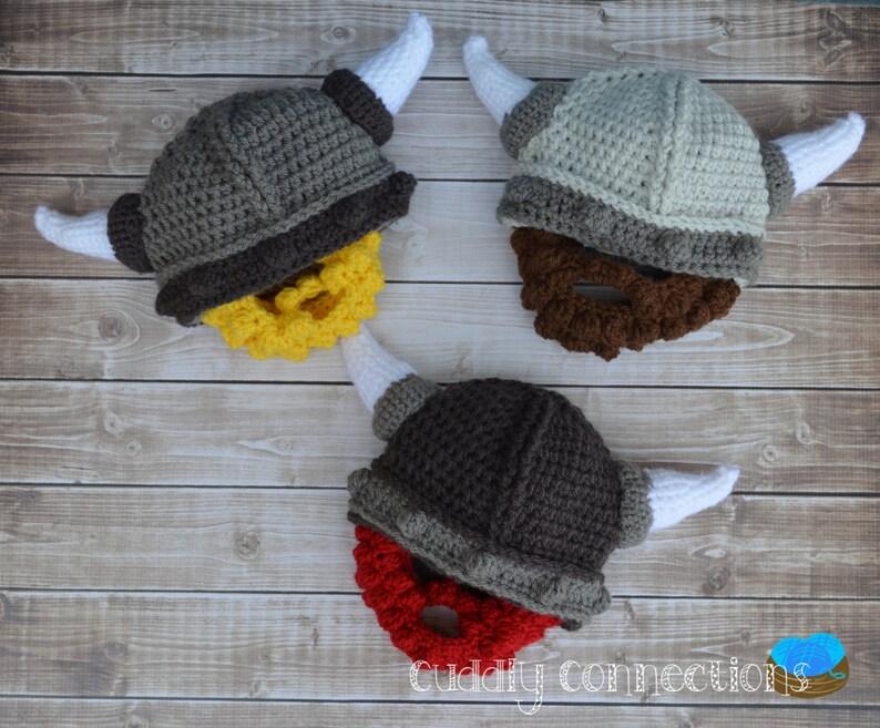 1f00fdd04f0b12 Crochet Viking Hat Viking Costume Beard Hat Beard Beanie | Etsy