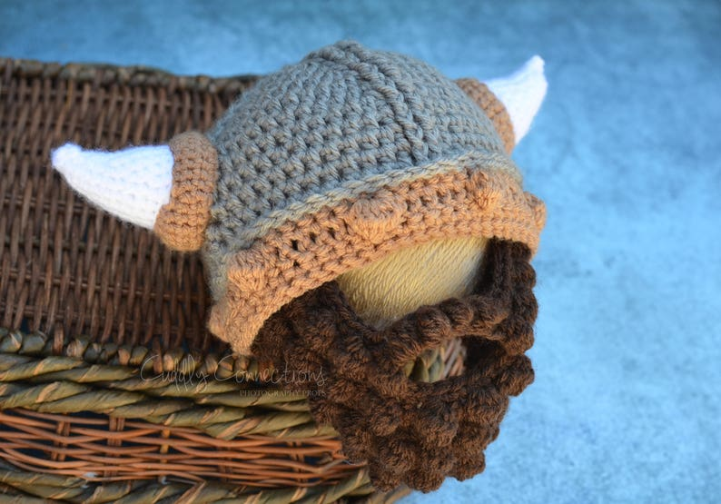 Baby Viking Hat Viking Baby Beard Hat Crochet Viking Hat Etsy