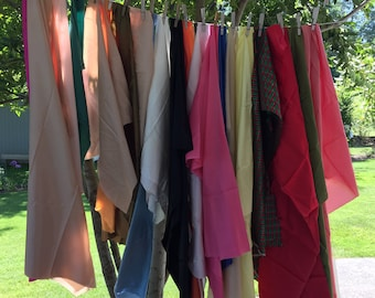 Crafters Pack, 20 Pieces, Vintage Satin and Taffeta, Mostly Rayon and Acetate