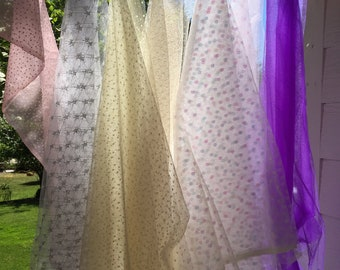 Crafters Pack, 8 Pieces, Tulle Netting Fabric, Many Colors, Veil, Tutu