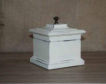Ivory Jewelry Box, Shabby Chic Jewelry Box, Ring Box, Jewelry Storage, Jewelry Organizer