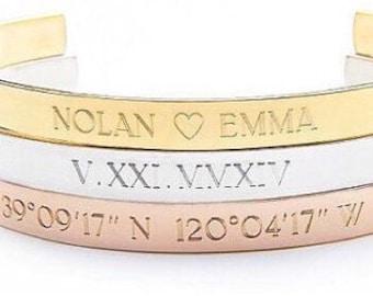 Custom Cuff Bracelet - Design Your Own Jewelry - Gold, Silver, Rose Gold - Custom Bracelet - Custom Jewelry- Custom Jewelry