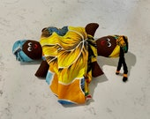 Vintage Topsy Turvy Doll Reversible Double Headed Cloth Doll Hand made