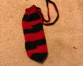 Red and Black Water Bottle Cozy