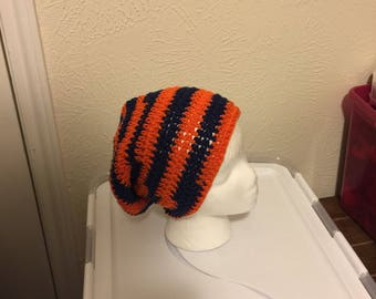 Orange and Navy Beanie