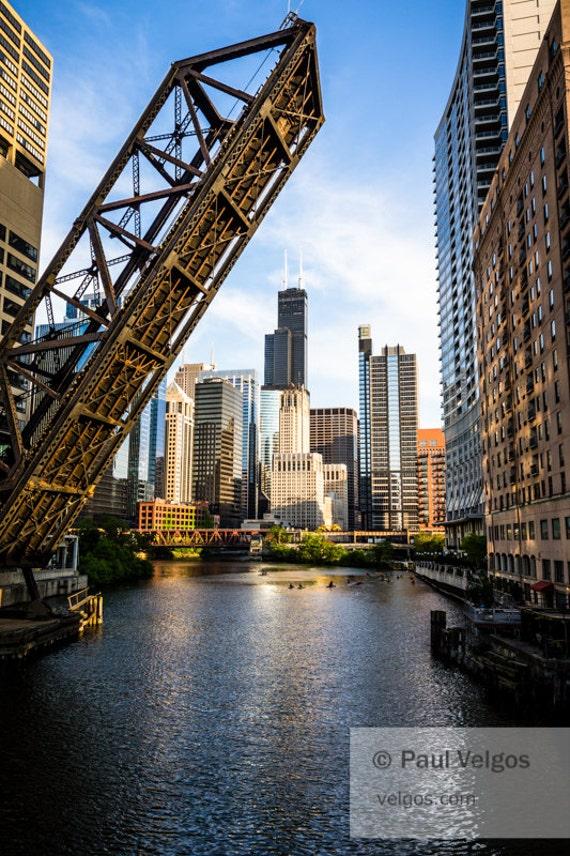 Chicago Bridge Chicago Willis Tower Chicago Wall Art Chicago Sears Tower Chicago Art Chicago Print