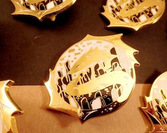 Smaugust Atlantis Dragon hard enamel pin   5cm   original design   fantasy gift