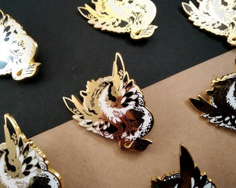 Smaugust Gryphon Dragon hard enamel pin   5cm   original design   fantasy gift