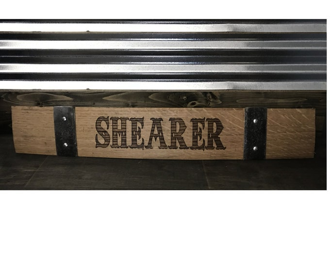 Personalized Barrel Stave - Authentic Laser Engraved Whiskey or Wine Barrel Stave - Great for The Home Bar, Garage Bar, Man Cave, She Shed
