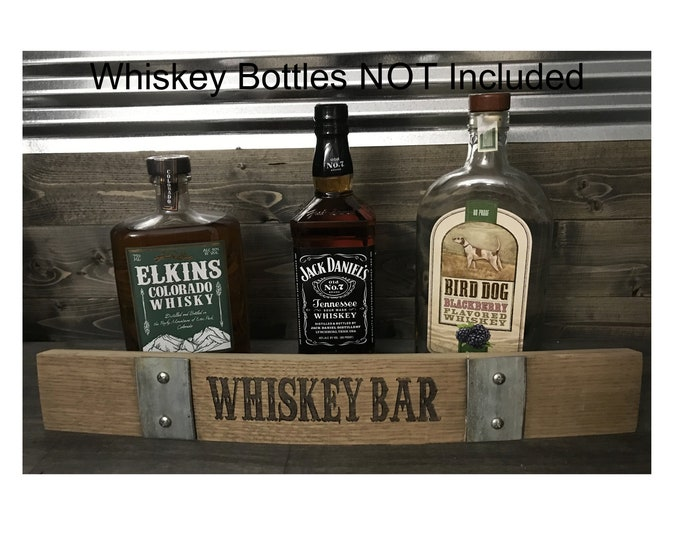 Whiskey Bar Barrel Stave - Authentic Custom Laser Engraved Whiskey Barrel Stave - Great for The Home Bar, Garage Bar, Man Cave
