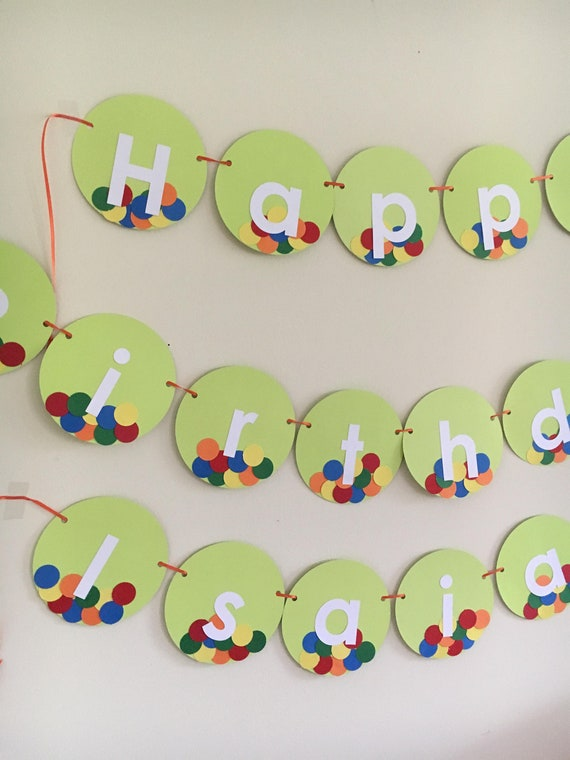 Ball Birthday Banner Happy 1st Party 2nd Decor Decorations
