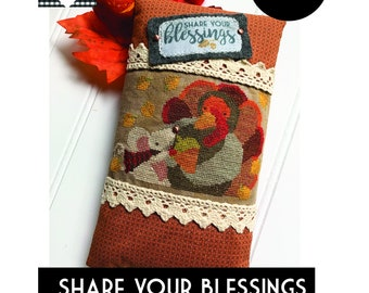 Share Your Blessings *Printed* Cross Stitch Chart