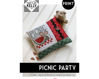 Picnic Party PRINT Cross Stitch Chart