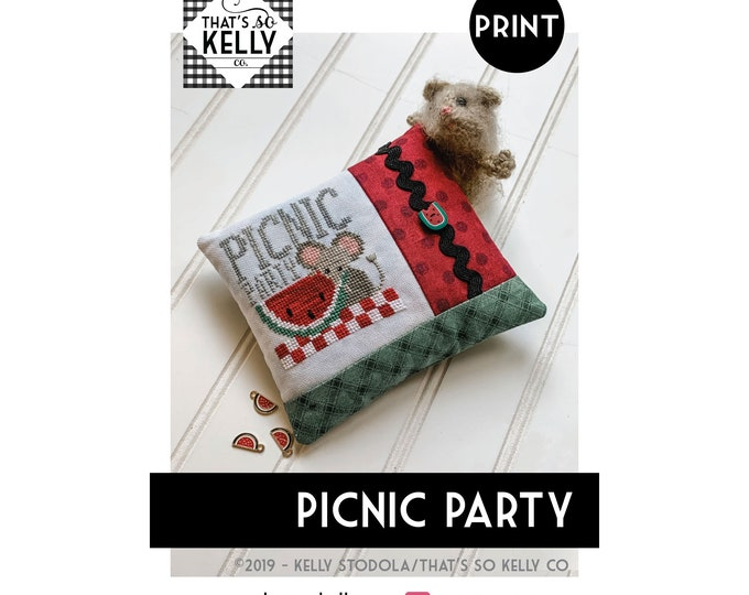 Picnic Party PRINT Cross Stitch Chart