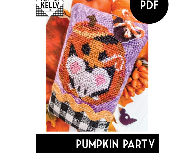 Pumpkin Party PDF Cross Stitch Chart
