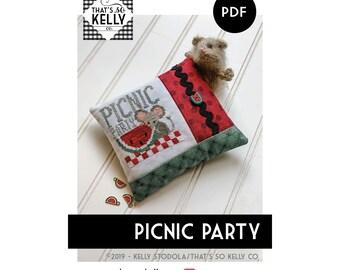 Picnic Party PDF Cross Stitch Chart
