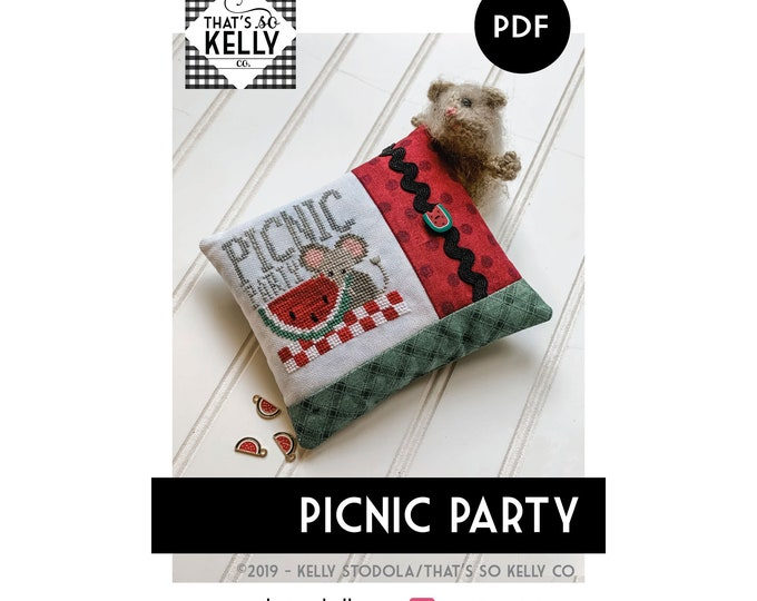 Picnic Party PDF Cross Stitch Chart