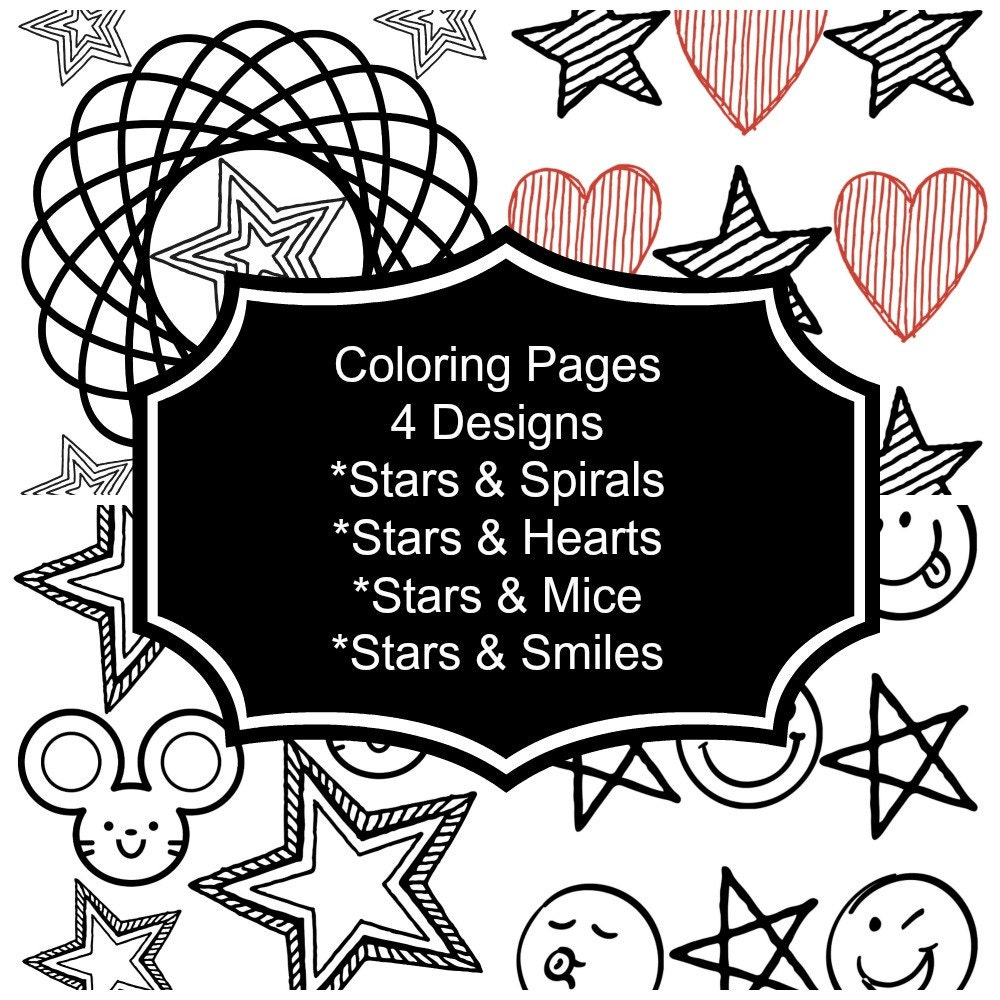 Instant Download / Coloring Pages / Printable for Kids / | Etsy