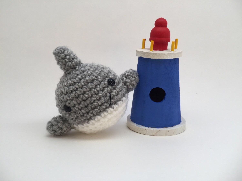 Amigurumi Crochet Shark Bookmark | 1125x1500