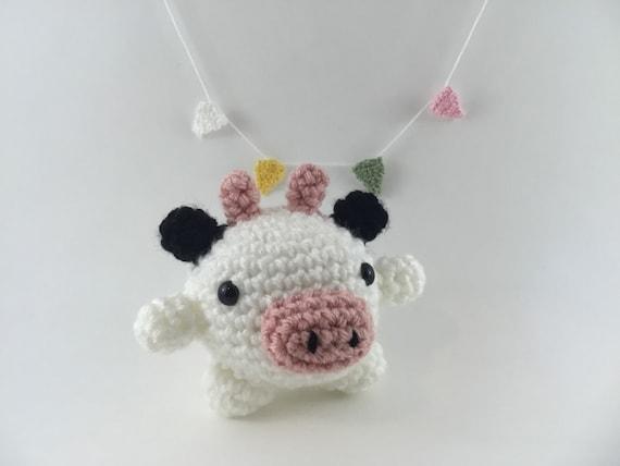 Mini Amigurumi Cow Amigurumi Cow Crochet Cow Tiny Cow Etsy