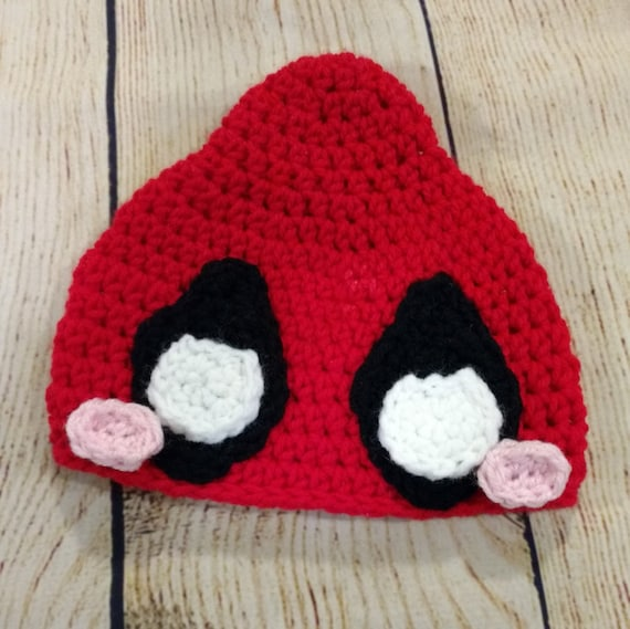CROCHET PATTERN-Sassy Deadpool-Deadpool Hat-Deadpool Inspired  cf6909995c7