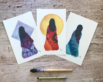 Wise Women Trio, 3 Print set 5.5 x 8.5 inches