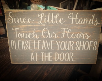 Distressed wood sign