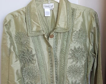 Coldwater Creek Jacket Embroidered Embellished Art to Wear